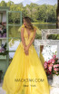 Tarik Ediz 93927 Yellow Front DressTarik Ediz 93927 Yellow Front Dress
