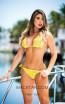 Baccio Paola Bikini Spandex Yellow Yellow Front