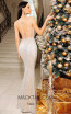 Jadore Australia JP111 Silver Nude Back Dress