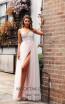 Jadore JX2099 Ivory Pink Front Dress