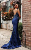 Jadore JX3001 Navy Back Dress