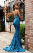 Jadore JX3017 Teal Back Dress