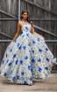 Jadore JX3025 Blue Front Dress