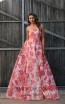 Jadore JX3025 Fuchsia Front Dress
