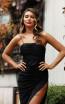 Jadore JX3028 Black Front Dress