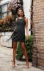 Jadore JX3036 Black Front Dress