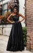 Jadore JX3044 Black Front Dress