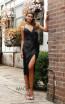 Jadore JX3049 Black Front Dress