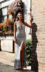 Jadore Australia JX3057 Silver Front Dress