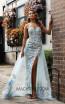Jadore Australia JX3058 Sky Blue Front Dress