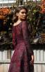 Jadore Australia JX3059 Plum Back Dress