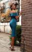 Jadore Australia JX3063 Teal Back Dress