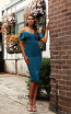 Jadore Australia JX3063 Teal Front Dress