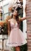 Jadore Australia JX3077 Dusty Pink Front Dress