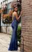 Jadore Australia JX3078 Electric Blue Back Dress