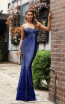 Jadore Australia JX3078 Electric Blue Front Dress