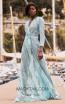 Miau By Clara Rotescu Ashanti Aqua Front Dress