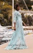 Miau By Clara Rotescu Ashanti Aqua Side Dress