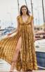 Miau By Clara Rotescu Belen Yellow Front Dress