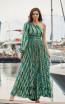 Miau By Clara Rotescu Charo Green Front Dress