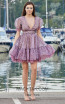 Miau By Clara Rotescu Hady Light Purple Front Dress
