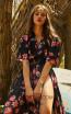 Miau By Clara Rotescu June Black Multi Front Dress