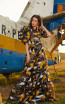 Miau By Clara Rotescu Ryia Yellow Front Dress