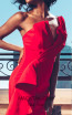MNM Couture 2425A Red Front2 Dress