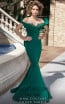 MNM Couture 2426A Green Front Dress