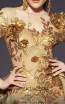 MNM Couture 2463 Gold Front2 Dress