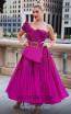 MNM Couture 2565 Fuchsia Front Dress
