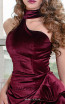 MNM Couture L0038 Burgundy Front2 Dress