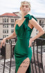 MNM Couture L0043 Green Front2 Dress