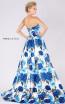 MNM M0033 White Blue Back Evening Dress