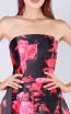 MNM M0040 Black Red Front Evening Dress
