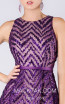 MNM M0065 Purple Front Evening Dress