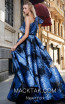MNM N0292 Blue Black Back Evening Dress