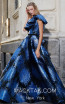 MNM N0292 Blue Black Front Evening Dress