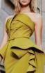 MNM N0297 Mustard Front Evening Dress
