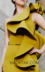 MNM N0298 Mustard Front Evening Dress
