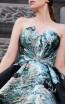 MNM N0300 Turquoise Front Evening Dress
