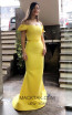 TK MT3947 Yellow Front Prom Dress