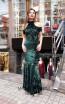 TK MT3951 Green Front Prom Dress