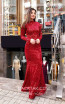 TK MT3952 Red Front Evening Dress