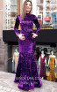 TK MT3952 Purple Front Evening Dress