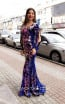 TK MT3953 Purple Front Evening Dress