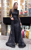 TK MT3955 Black Front Evening Dress