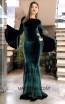 TK MT3956 Green Front Prom Dress