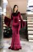 TK MT3956 Bordo Front Prom Dress