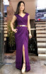 TK MT3962 Purple Front Evening Dress